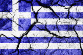 Cracked soil as Greece flag — Stock Photo