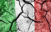 Cracked soil as Italy flag — Stock Photo