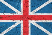Grunge england flag with old paint on it — Stock Photo