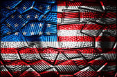 Grunge USA Flag on glass background — Stock fotografie