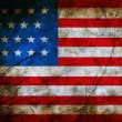 Foto de Stock  : Grunge flag of USA
