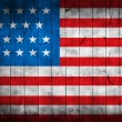 Stock Photo: grunge flag of usa