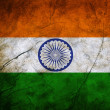 Stock Photo: Grunge flag of India