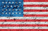 The USA flag painted on grunge wall — Stock Photo