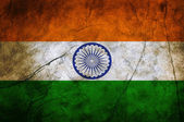 Bandeira do grunge da Índia — Fotografia Stock