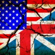 Usa and England flag together on grunge background — Stock Photo #29710091