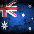 Stock Photo: Grunge flag of Australia