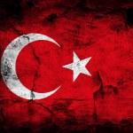 Grunge flag of Turkey — Stock Photo