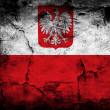 Grunge flag of Poland — Stock Photo