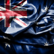 Flag of Australia on satin texture — Stock Photo