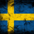 Stock Photo: Dark grunge Sweden flag