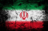 Grunge flag of Iran — Stock Photo