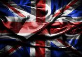 Dark Flag of UK, British flag, close up. — Stock Photo