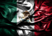 Fabric Flag of Mexico — Stock Photo