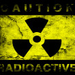 Nuclear danger warning background — Foto Stock