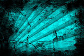 Grunge turquoise background with stripe pattern — Stock Photo