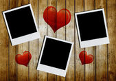 Photo frames with heart shape — Stockfoto