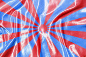 Red stripes on blue silk background — Stock Photo