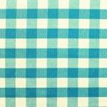 Blue checkered tablecloth — Stock Photo