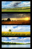 Nature banners set — Stock Photo