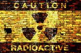 Radioactive background — Stock Photo