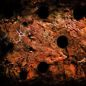 Grunge wall with bullet holes — Stock Photo