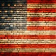Flag of USA painted on an old brick wall — Stock Photo #30319333