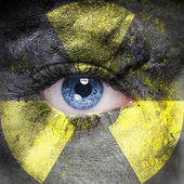 Radioactive face — Stock Photo