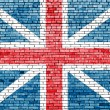 United Kingdom flag on old brick wall — Stock Photo