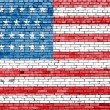 Flag of USA painted on an old brick wall — Stock Photo #30331757
