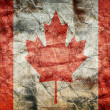 Grunge flag of Canada — Stock Photo