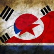 The confrontation between North Korea and South Korea. — Stock Photo #30420501