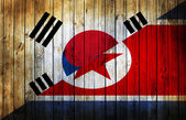 The confrontation between North Korea and South Korea. — Stock Photo