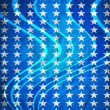Blue background with stars — Foto Stock