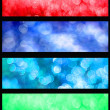 Colorful bokeh web banners set — Stock Photo #30436755