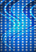Blue background with stars — Stockfoto
