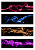 Web templates set - colorful smoke — Stock Photo