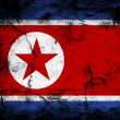 North Korea Flag — Stock fotografie