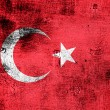 Stock Photo: Grunge flag of Turkey