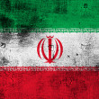Grunge flag of Iran — Foto Stock