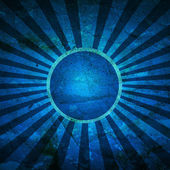 Vintage background blue sun and beams — Stock Photo