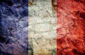 Vintage flag of France — Stock Photo