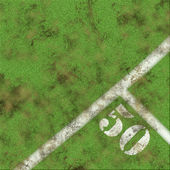 Green grass and 50 yards marker — Stock Photo