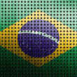 Brasil flag on old plane metal plate — Stock Photo