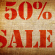 Stock Photo: Grunge 50 percent sale