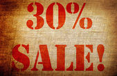 Grunge 30 percent sale — Photo