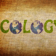 Ecology word on grunge background — Stock Photo