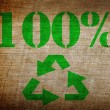 Recycling symbol on grunge background — Stock Photo