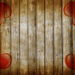 Love symbol on old wooden wall background — Stock Photo
