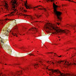 Grunge flag of Turkey — Stock Photo